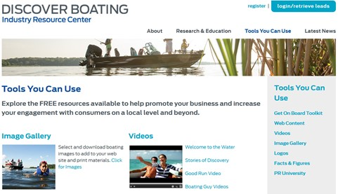 Discover Boating Marketing Content Available