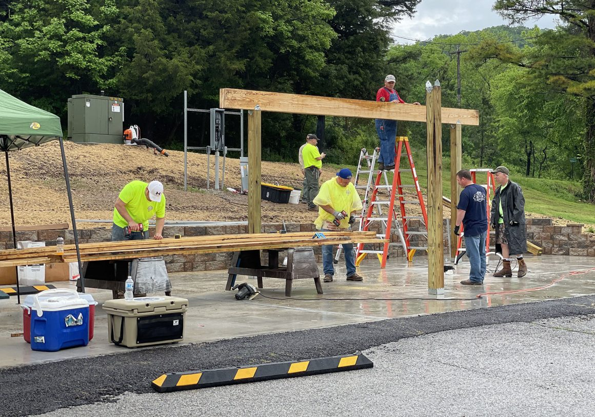 Union Members Construct Cleaning Station at Missouri Trout Hotspot
