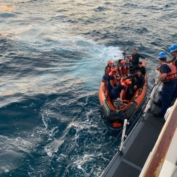 Anglers Capsize in Government Cut, Coast Guard to the Rescue