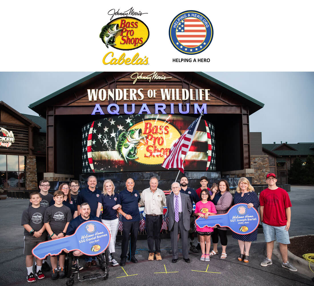 Johnny Morris Steps Up for Wounded Vets with Adapted Homes