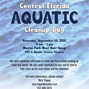 Clean-up Day on Florida's Harris Chain of Lakes